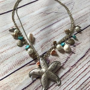 Mermaid Starfish Shell Necklace Tropical